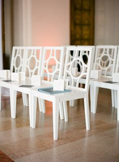 Modern Wedding Ceremony Chairs | photography by http://tanjalippertphotography.com/