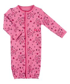 Another great find on #zulily! Pink I Heart You Convertible Gown - Preemie & Infant #zulilyfinds