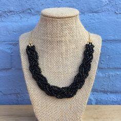 Black Statement Necklace Black Necklace Chunky by ZealandBoutique