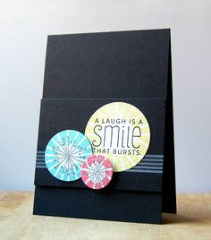 Bold Circles Card by Cristina Kowalczyk for Papertrey Ink (January 2013)