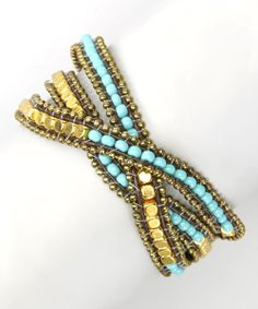Turquoise & Stone Bead Wrap Bracelet