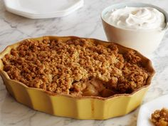 Apple and Pear Crisp   TRY THIS! The secret is the orange and lemon zest and juice. Gives it such a refreshing taste! Perfect for Potlucks, Dinners, Thanksgiving. Every time I make this I get compliments!
