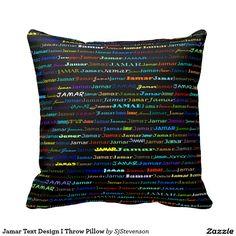 Jamar Text Design I Throw Pillow