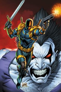 Lobo and Deathstroke. A couple of some of my favorite characters in the DC universe.