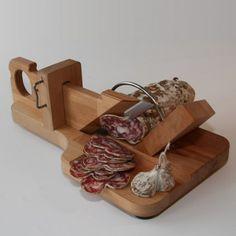 Wood Guillotine Slices Salami