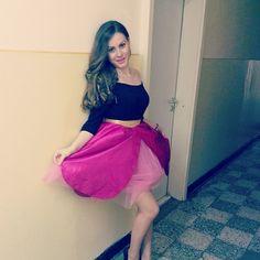 Love my pink skirt!