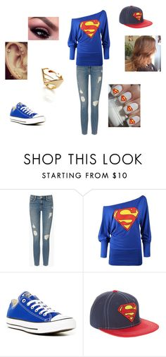"""""""Team Superman"""" by kat0213 ❤ liked on Polyvore featuring Frame Denim, CO, Converse and John Lewis"""