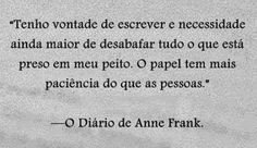 """Mensagem do livro e filme """"O diário de Anne  Frank."""" ★☆""""Sinto os mesmos desejos"""".☆★"""