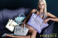 Lady Gaga's Un-Retouched Versace Ad Images Hit the Web. more exposure for GAGA and VERSACE . Gianni Versace, Versace 2015, Donatella Versace, Versace Fashion, Carla Bruni, Elizabeth Hurley, Versace Handbags, Fashion Handbags, Purses
