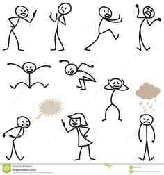 Illustration about Set of vector stick figures: Happy stick man walking and running. Illustration of smiling, stick, walking - 38950966 Doodle Drawings, Cartoon Drawings, Easy Drawings, Drawing For Kids, Drawing Tips, Painting & Drawing, Les Doodle, Doodle Art, Visual Note Taking