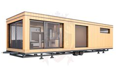 Image result for static caravan clad in wood