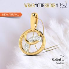 "Falling in love is just understated; with ""The Belinha Pendant"" you are sure to rise in love. #InstaJewellery #jewelry #Jewellery #diamond #Love #Pendants #PCJeweller"