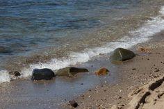 "Saatchi Art Artist Mahsa Watercolor; Photography, ""Seaside stones"" #art"