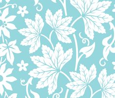AlohaFlowers10a fabric by muhlenkott on Spoonflower - custom fabric