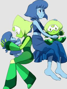 Peridot and lapis