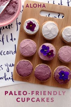Vanilla Protein Cupcakes with Superfood Berry Frosting b4fb17fc6