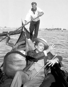Salvador Dali in Venice, 1961.