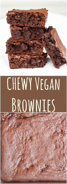 Seriously THE BEST Vegan Brownies with a GF option.