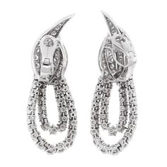 Fred Paris Diamond Platinum Earrings 7