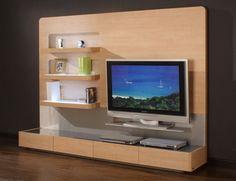 Decorating Charming Living Room Wall Unit Design Idea