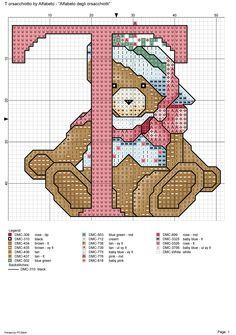 alfabeto degli orsacchiotti: T