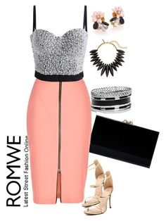 """ROMWE 4"" by mejra-s ❤ liked on Polyvore featuring GUESS, Charlotte Olympia, Oscar de la Renta, River Island and Kate Spade"