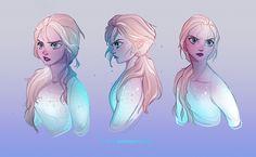 Artwork of anything Disney related! Arte Disney, Disney Fan Art, Disney Love, Disney Pixar, Disney Frozen Elsa, Disney Princess, Frozen Fan Art, Jelsa, Dreamworks