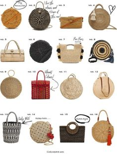 Crochet Bags Designs 16 bags that will inspire your spring and summer wardrobe - 16 bags that will inspire your spring and summer wardrobe Related Summer Purses, Summer Bags, Spring Summer, Summer Handbags, Diy Fashion Bags, Fashion Rings, Basket Style, Mochila Crochet, Crochet Bags