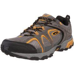 Hi-Tec Athletic Men's Phoenix Trail Running Shoe,Stone/Grey/Yellow,13 M US