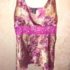 Tops - Polyester charmeuse camisole.