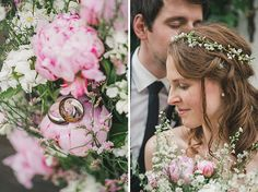 Foto von Brautstrauß aus Pfingstrosen und Detailfoto der Eheringe • Weddingrings and flower detail #hochzeitslicht #eheringe #ring © Hochzeitsfotograf Berlin www.hochzeitslicht.de