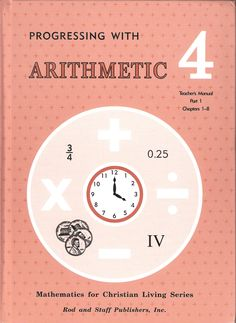 Rod & Staff Arithmetic Tm 1 Grade Level: 4 Item #: RS04134913 Retail Price: $11.00 Our Price: $5.00      On Sale While Supplies Last! Rod & Staff Math 4 Teacher's Manual Part 1 Chapter 1-8