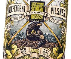 Label Design for Longwood Brewery's new Independent Pilsner