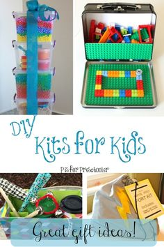 DIY Gift Kits for Kids, some of these are SO awesome Homemade Gifts, Diy Gifts, Lego, Michael S, Diy And Crafts Sewing, Crafts For Teens, Kid Crafts, Kits For Kids, Living At Home