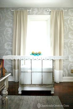 Drop Cloth Curtain Panels - Chaotically Creative
