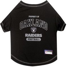 Oakland RAIDERS NFL dog T-Shirt in color Black ad988536e