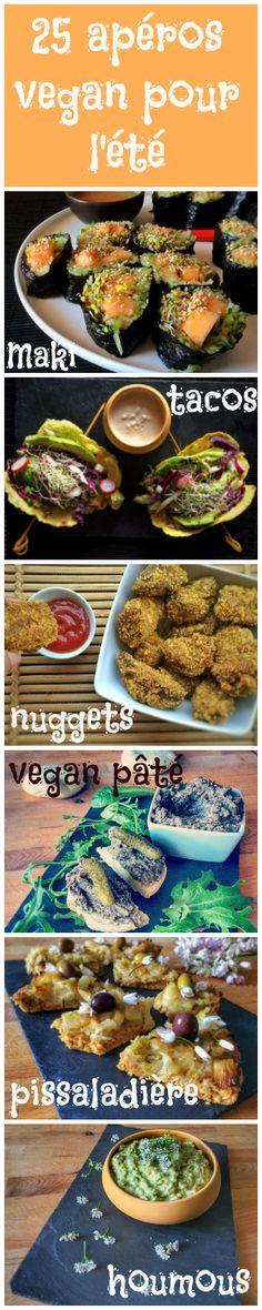 En manque d'idées pour l'apéro ? Retrouvez 25 recettes pour cet été ! #vegan #apero #snacks