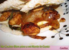 Pita rellena de pollo con curry