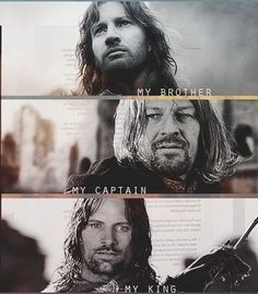 """""""I would have would have followed you, my brother... my captain... my king.""""  """"Be at peace, Son of Gondor."""""""