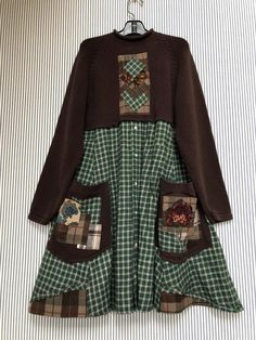 Excited to share this item from my shop: Upcycled Rustic Cabin Chic Artsy Sweater Dress, Flannel Shirt Tunic , Warm Winter Sweater Loose Fit refashioned Sweaters Pullover Upcycling, Flannel Dress, Flannel Shirt, Diy Clothes, Clothes For Women, Sewing Clothes, Short Beach Dresses, Warm Dresses, Dresses Dresses