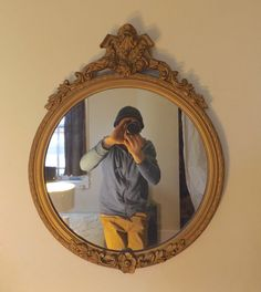 Antique Victorian Gold Gilt Gesso Framed Mirror by evokative1