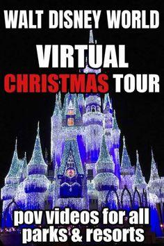 Christmas at Disney World Virtual Tour 2020 - Sand and Snow Magic Kingdom Christmas, Disney World Christmas, Disney Christmas Shirts, Disney Holidays, Christmas Events, Christmas Vacation, Christmas Greetings, Disney World Theme Parks, Disney World Planning