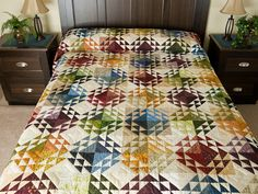 Corn and Beans Quilt -- wonderful made with care Amish Quilts from Lancaster (hs6853)