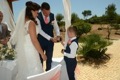 Anna & Tony in the Algarve and their super delightful ring bearer