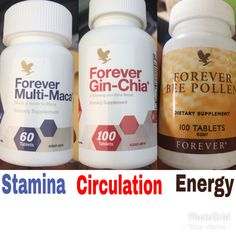 Forever multi maca , bee pollen and gin chia , together this supplements create a great unique benefits for male sexual health , increase stamina , energy and good circulation for proper erection Forever Living Aloe Vera, Forever Aloe, Multi Maca, Forever Living Business, Chia Benefits, Increase Stamina, Bee Pollen, Forever Living Products, Aloe Vera Gel