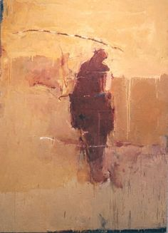 """Red Figure with Stick . 72 x 52"""" . oil on canvas . 2001 