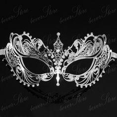 New! Silver Extravagant Filigree Laser Cut Venetian Masquerade Mask - Made of Light Metal  $13 w shipping