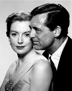 Cary Grant had so many leading ladies we loved seeing him paired up with through his years -- here he is with Deborah Kerr from the 1957 film An Affair to Remember. Hooray For Hollywood, Golden Age Of Hollywood, Vintage Hollywood, Classic Hollywood, Hollywood Icons, Deborah Kerr, Cary Grant, Old Movies, Great Movies