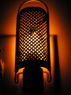 Chic Cottage Junk | Old Cheese Grater Night Light