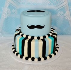 Mustache Baby Shower Cake By callmetiff on CakeCentral.com